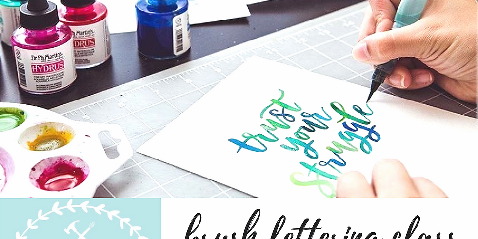 11/15 Intro to Brush Lettering