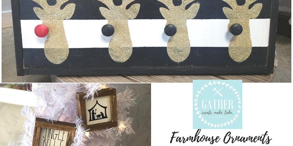 11/20 Farmhouse Ornaments & Stocking Hooks