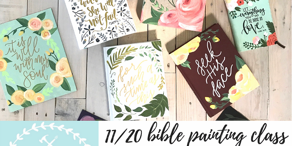 11/20 Bible Painting Class