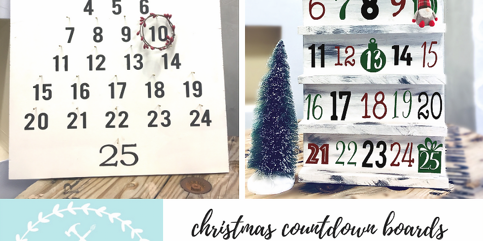 11/24 Christmas Countdown Boards