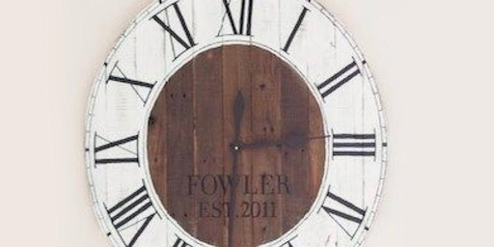 SOLD OUT Farmhouse Clock Workshop