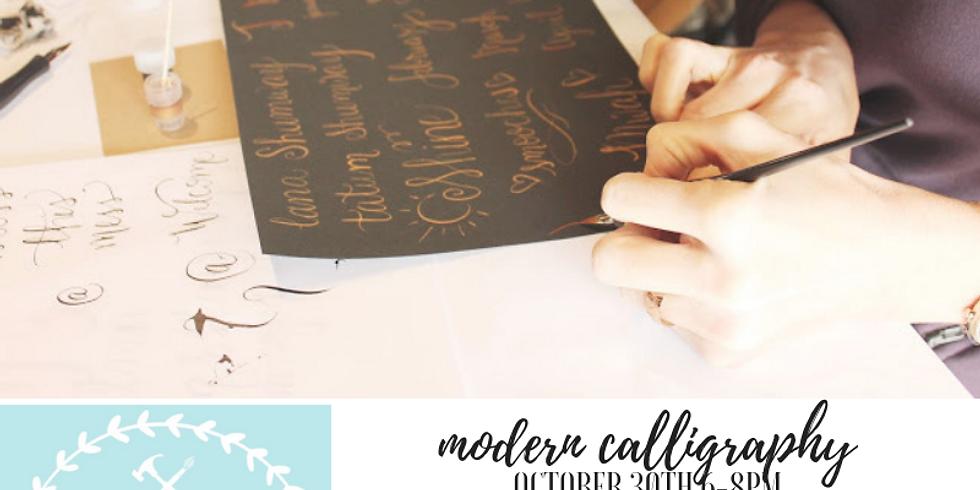 10/30 Modern Calligraphy $35