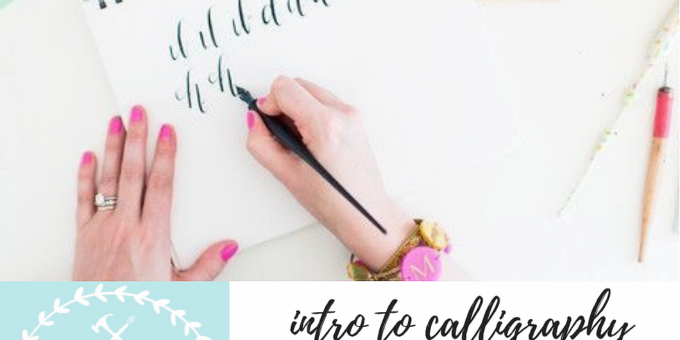 12/4 Intro to Calligraphy + Holiday Envelopes
