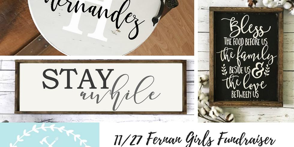 11/27 Fernan Girls Fundraiser