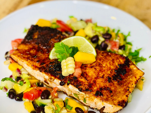 Spice Rubbed Grilled Salmon