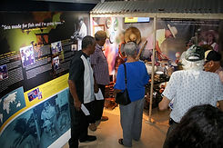 Visitors in the Alvin McLaughlin Exhibit