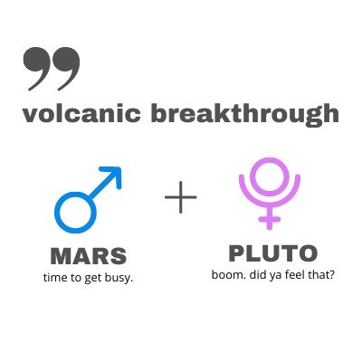 Mars Pluto Comic Connection