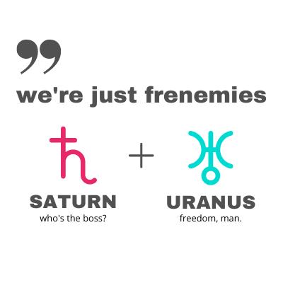 Saturn Uranus Comic Connection