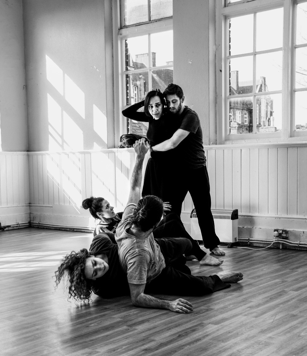The beginnings of devising in a cold winter of 2015. Photography courtesy of Ala Tayebi.