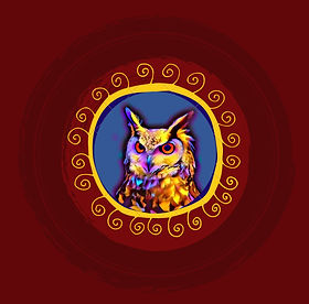 Posterized Owl Whimsical Frame_edited.jp