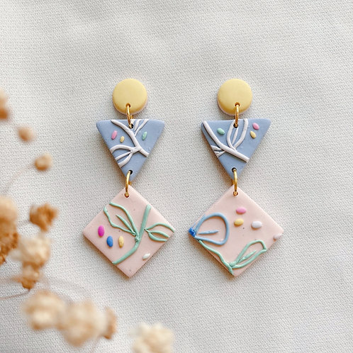 Pastel Blooms Deco Dangles