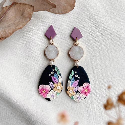 Petal Purple-White Crystal Florals