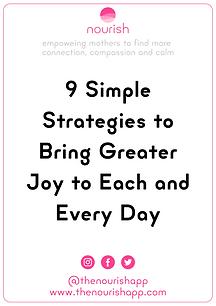 9 Simple Strategies to Bring Greater Joy