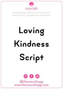 Loving Kindness Script