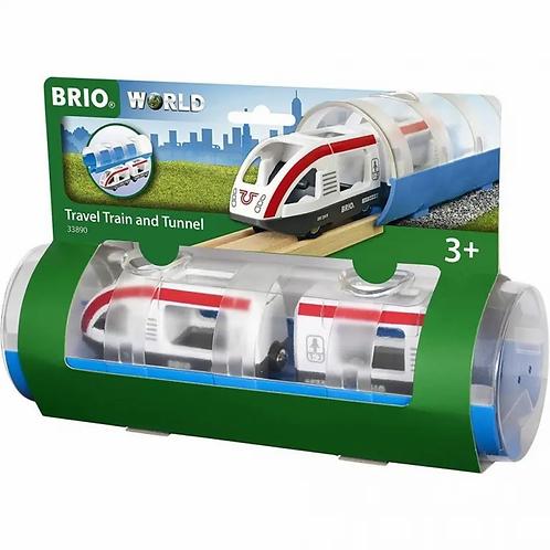 BRIO Train - Travel Train and Tunnel, 3 pieces
