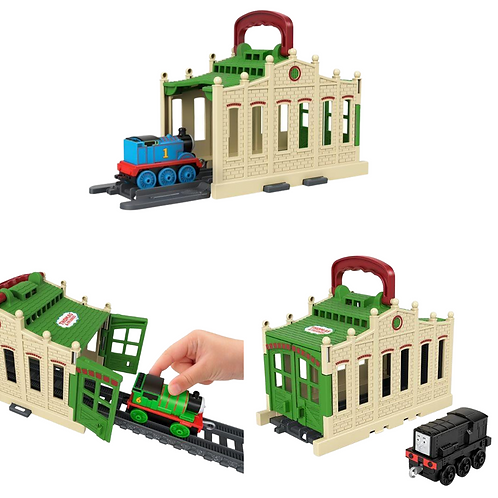 Thomas & Friends Thomas Connect & Go Tidmouth Shed Playset