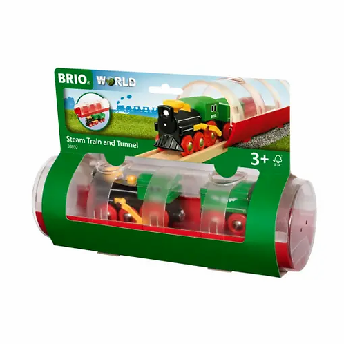 BRIO Train - Tunnel & Steam Train 3 pieces