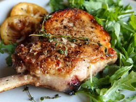 Pork Chops and Lemon Vinaigerette