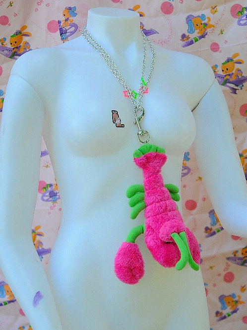 Watermelon Lobster Necklace