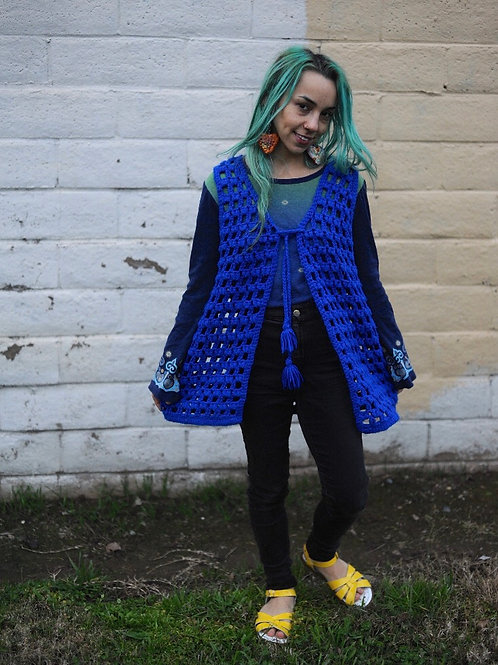 70s Crochet Vest