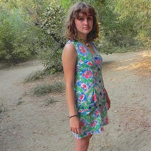 Floral 60s Mini Dress
