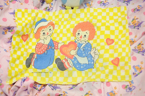 Raggedy Ann and Andy Pillow case