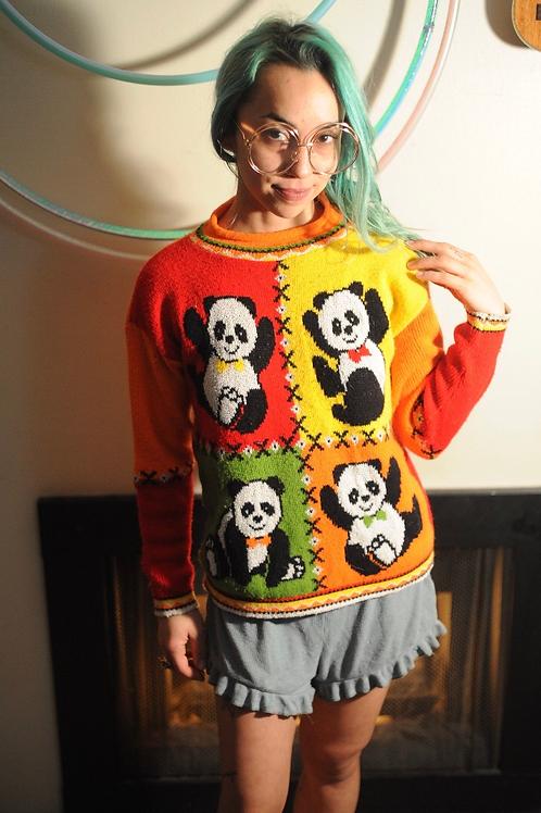 80s/90s Basic Editions Panda Sweater