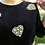 Thumbnail: Black Velvet Beaded Sweater