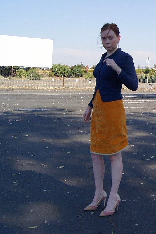 70s Style Suede Skirt