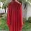 Thumbnail: Kimono crepe vermelho liso