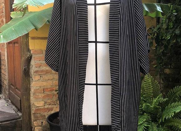 Kimono longo risca de giz