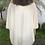 Thumbnail: Kimono com malha em lurex texturizado branco