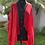 Thumbnail: Kimono em Sarja de Viscose Vermelho Liso