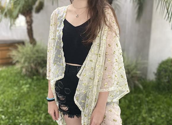 Kimono em organza
