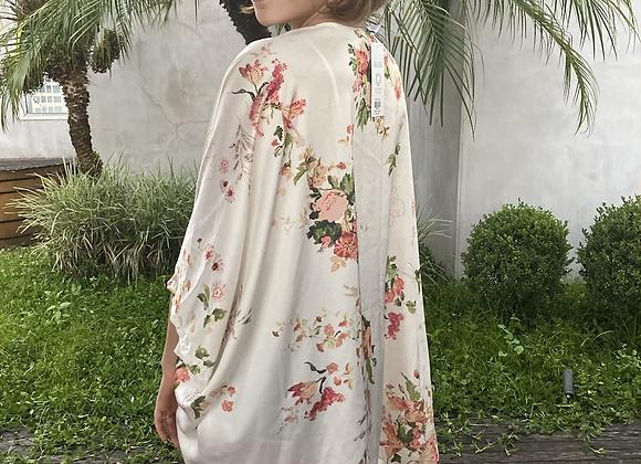 Kimono curto flores