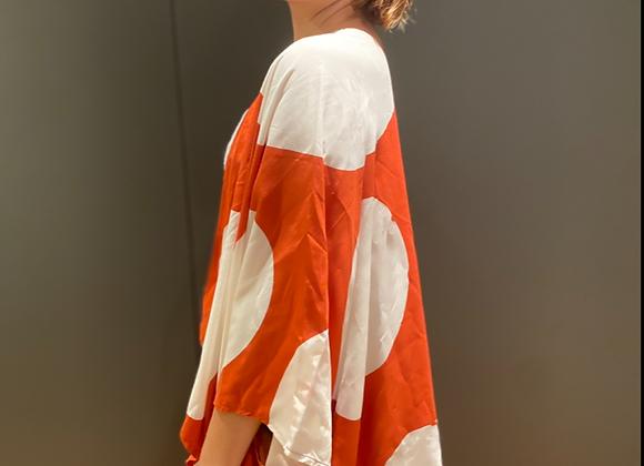 Kimono maxi-poá em viscose
