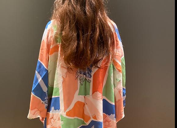 Kimono horta colorido