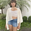 Thumbnail: Kimono em laise branco
