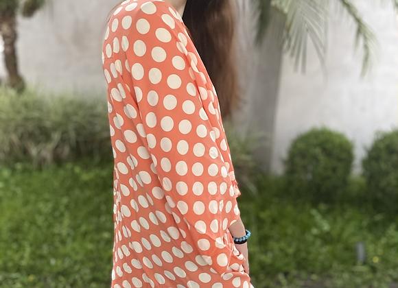 Kimono de Poá Salmão