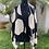 Thumbnail: Kimono em Maxi Poá Preto e Branco