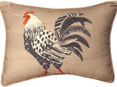 FARM LIFE ROOSTER PILLOW