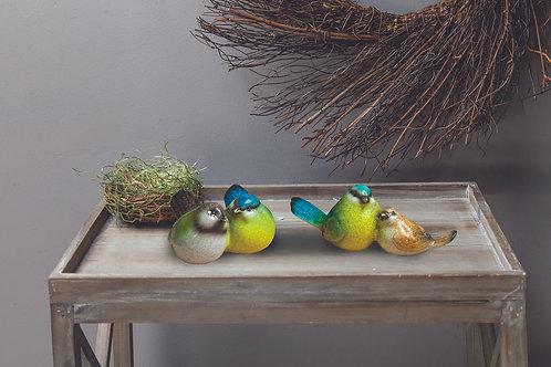 TOGETHER CERAMIC BIRDS (SET 2 AS SHOWN)