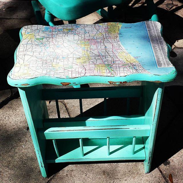 Put a map on it!_#furniture #coolstuff #eclectic #600blockstpete #instaBURG #igersstpete #homedecor