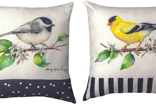 GROVE SONG BIRDS PILLOW