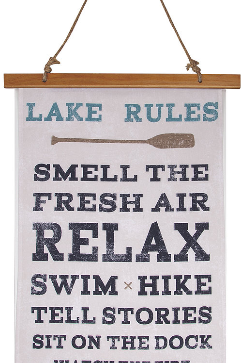 LAKE RULES WALL HANGING