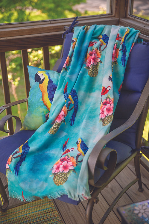 PARROTS & PINEAPPLES POLY THROW