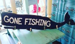 Gone Fishing Wall Hook Plaque_#gonefishing #whaleofaday #welovewhales #whales #wallhooks #coastalliv