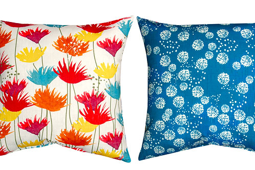"""SUNBAKED FLORAL PILLOW 18"""" x 18"""""""