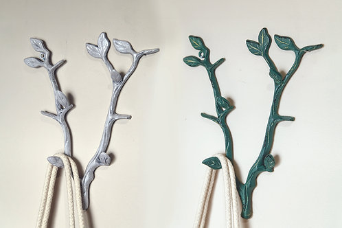 BRANCH IRON WALL HOOK (SET 2 AS SHOWN)