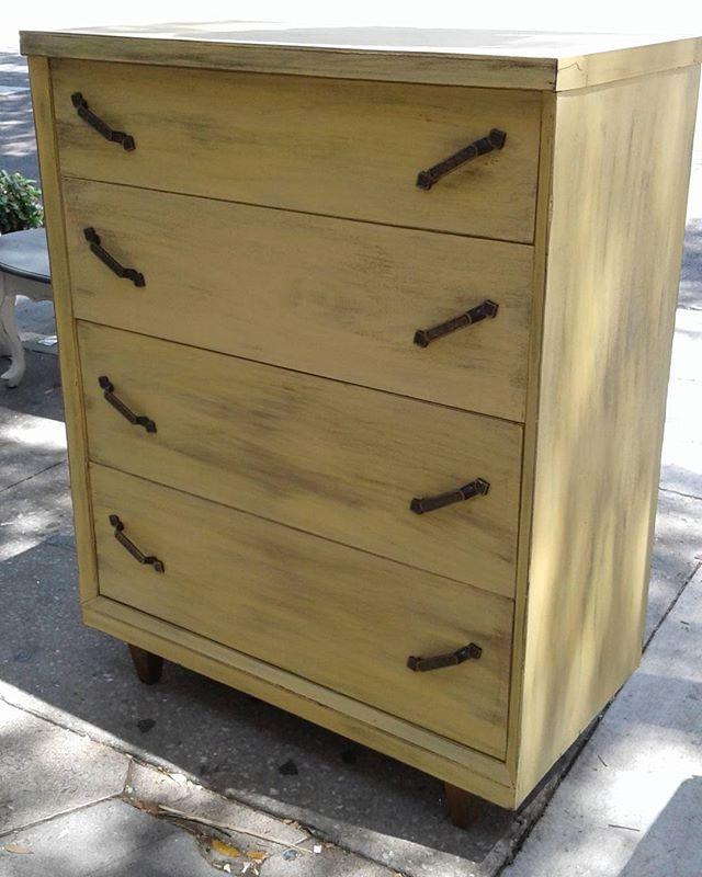 Vintage Yellow Dresser_#dresser #furniture #furnituredesign #custompainted #home #homedecor